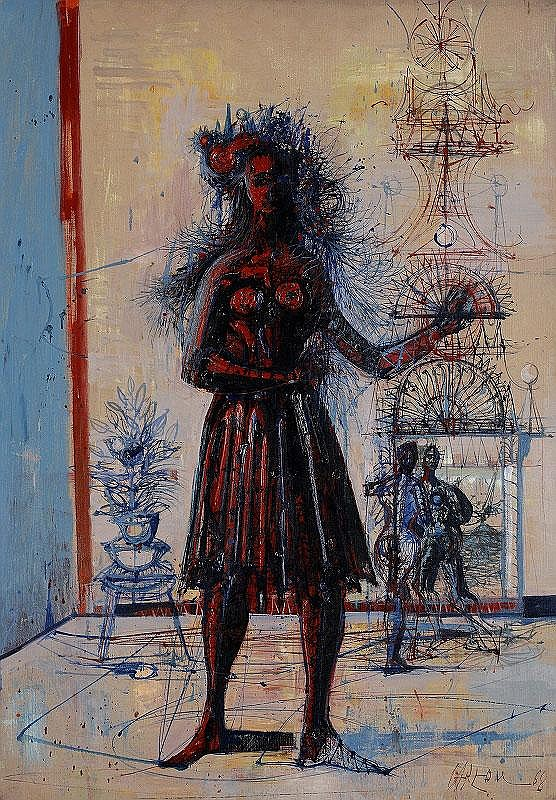 Jean Carzou, La Dame en rouge