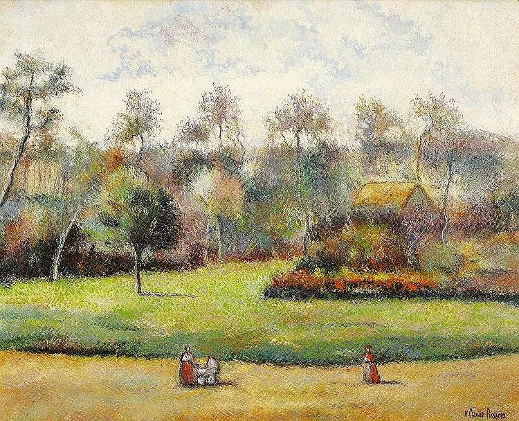 Huges Claude Pissarro, Le petit fils, le jardin de Carisy