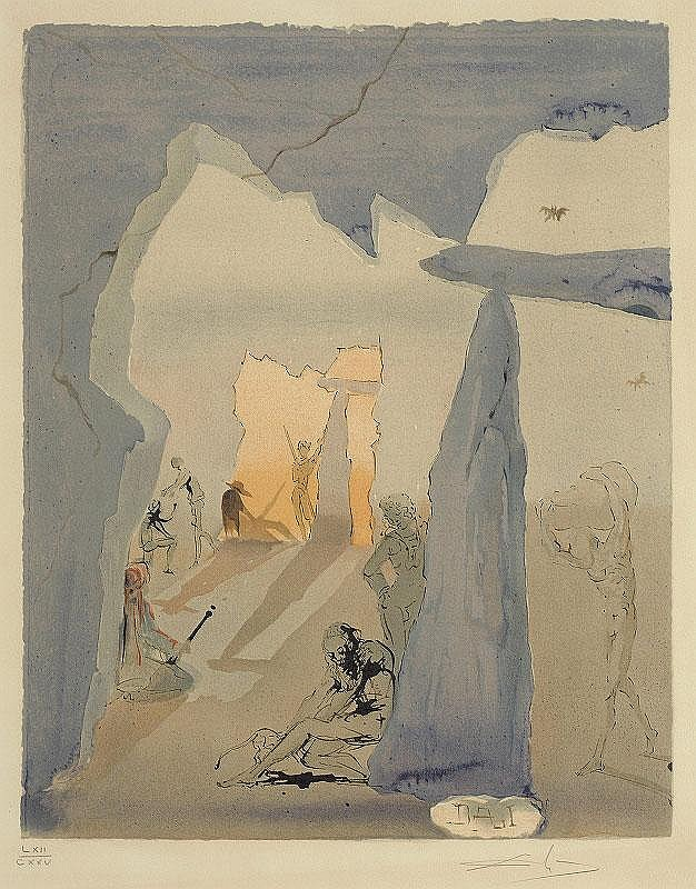 Salvador Dali, Smugglers' meeting (from Carmen) (Michler  &  Lopsinger 1319) (sold with 226B; set of 2)