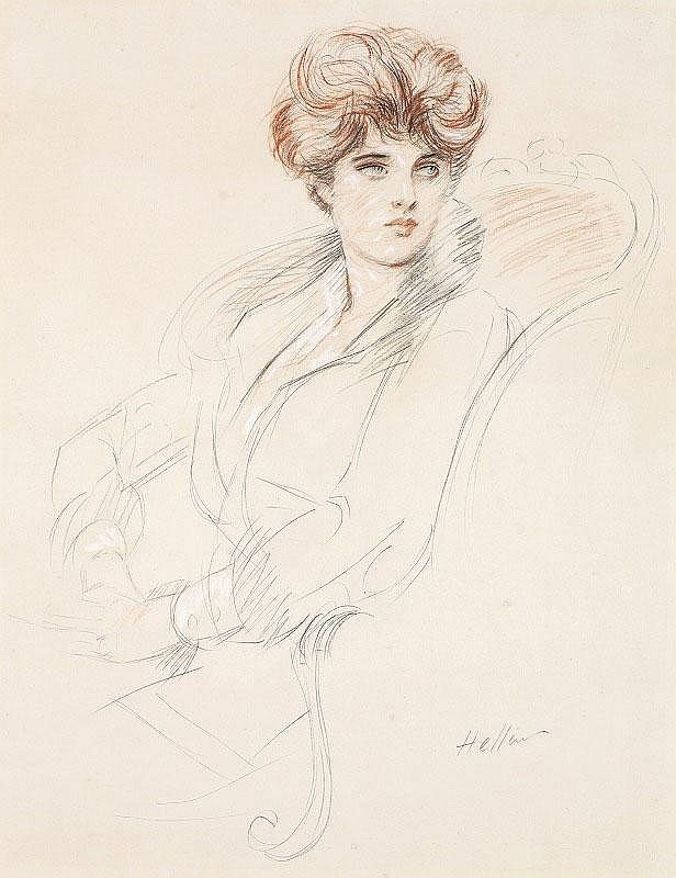 Paul Cesar Helleu, Young woman