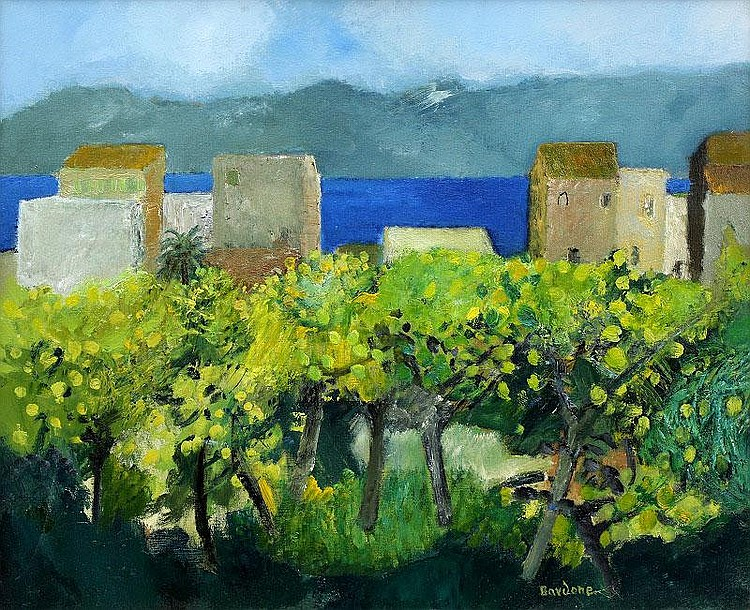 Guy Bardone, Saint Eli - Sicile oil on canvas,