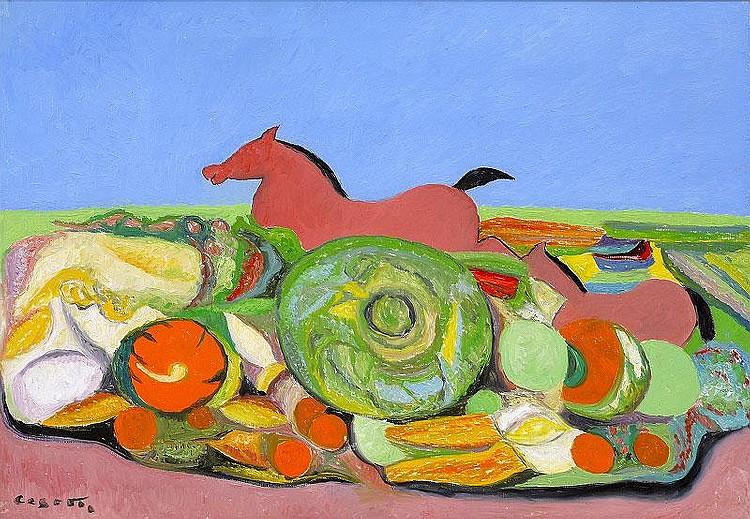 Giuseppe Cesetti, Pink horses