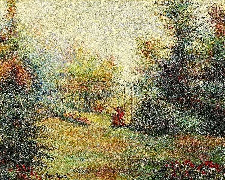 Huges Claude Pissarro, Le petit fils La Causette au Jardin de Marras
