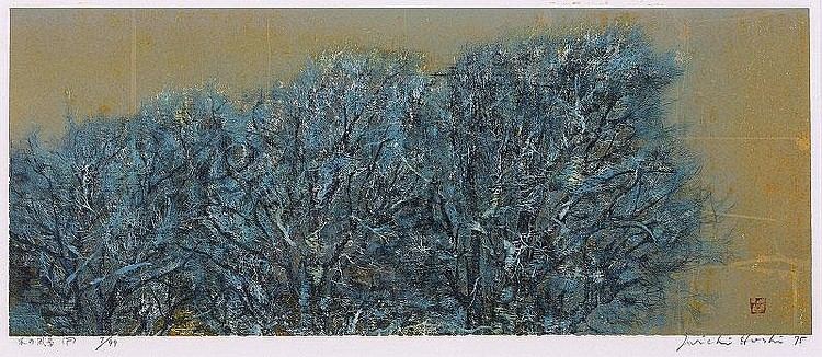 Joichi Hoshi, Landscape trees (Kato Gallery 321)