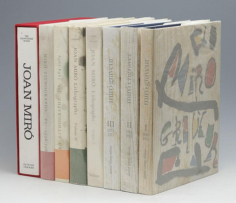 Joan Miro, Miro Lithographs I, II, III, VI/ Graveur I, II, III/ The Illustrated Books (set of 8)