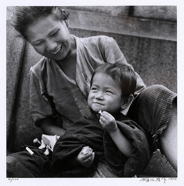 Eikoh Hosoe, Mother and Child, Ginza (sold with 50A; set of 2)