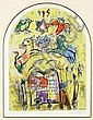 Marc Chagall(After), La Tribu de Levi, from 'Twelve Maquettes of Stained Glass Windows for Jerusalem' by Charles Sorlier (Mourlot CS.14), Charles  Sorlier, Click for value
