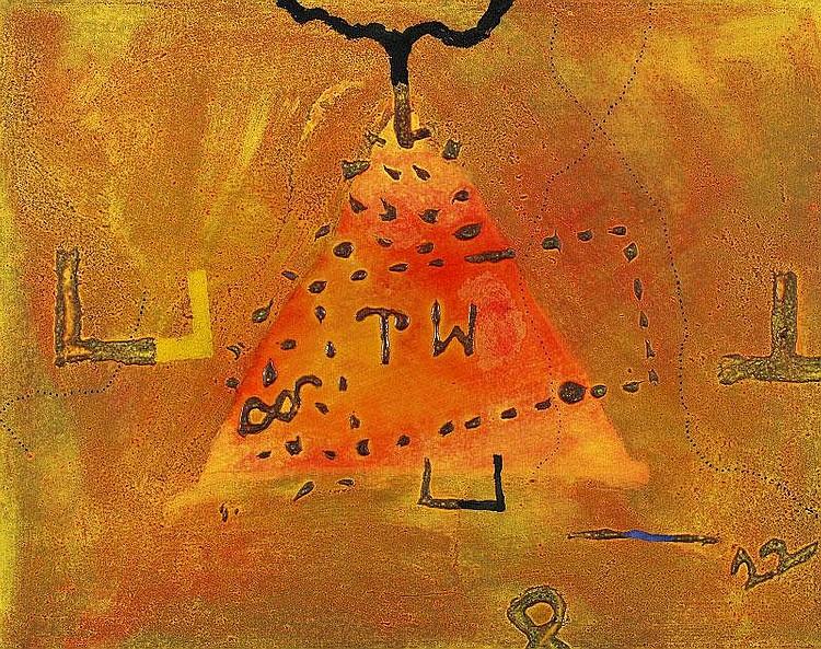 Richard Texier, L'infini et son double oil on