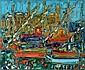 Andre Cottavoz, Le Port oil on canvas, signed, André Cottavoz, Click for value