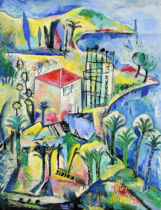 Louis Cane, Cote d'Azur oil on canvas, painted in