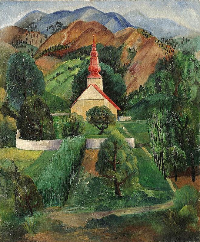 Moise Kisling, L'Eglise au pied de la montagne oil