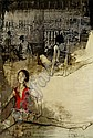 Jean Jansem, Ballerines au repos oil on paper laid, Jean Jansem, Click for value