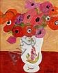 Pierre Boncompain, Anemones au vase polychrome, Pierre Boncompain, Click for value