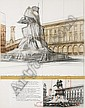 Christo Javacheff, Wrapped monument to Vittorio Emanuele(Project for Piazza del Duomo, Milano),  Christo, Click for value