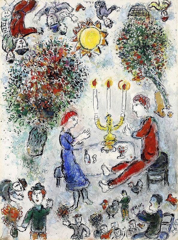 Marc Chagall, Le repas des amoureux