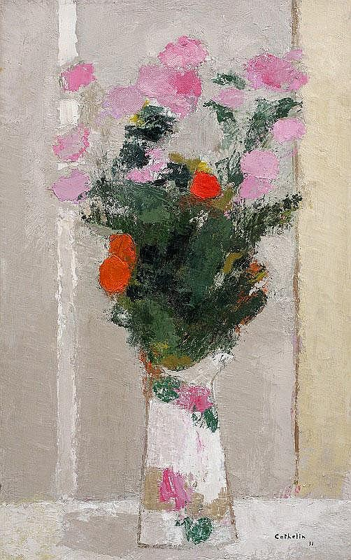 Bernard Cathelin, Bouquet au vase de Chine