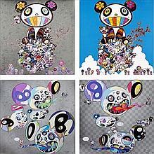 Takashi Murakami, Panda & Panda Cubs/ The Pandas Say They're Happy/ Spiral/ Parallel Universe