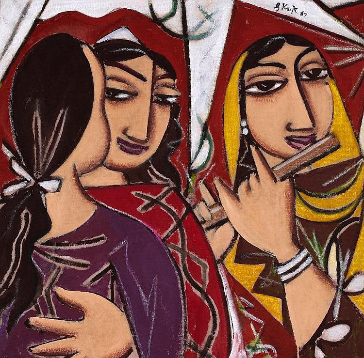 George Keyt, Three Figures from an Indian Legend