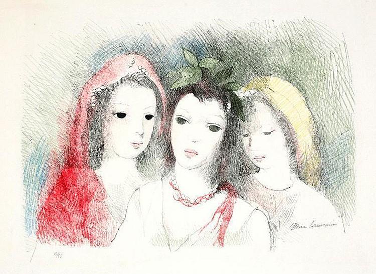 Marie Laurencin, Trois tetes de femmes