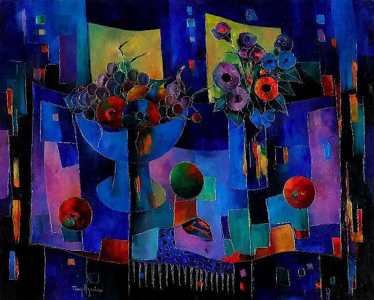 Tony Agostini, Vie silencieuse oil on canvas,