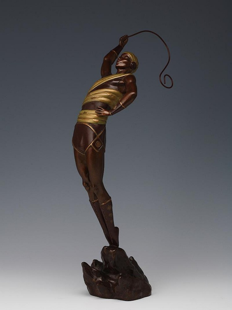 Erte, Le Danseur bronze, inscribed 'erte' (on the