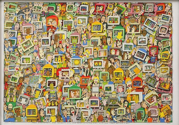 James Rizzi, Touch someone with your thoughts, with your heart, with your eyes, with your finger and with email