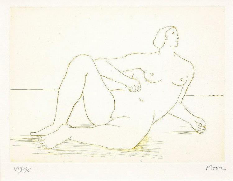 Henry Moore, Reclining Nude I (Cramer 482)