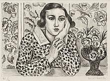 Henri Matisse, Jeune fille accoudée au paravent fleuri (Duthuit 439)