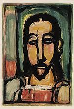 Georges Rouault, Christ (de face), from 'Les Fleurs du Mal' IX (Chapon & Rouault 282b)