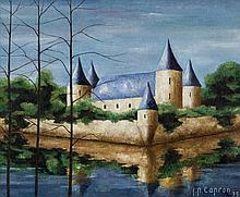 Jean-Pierre Capron, Chateau de bord de l'eau (sold with 322B; set of 2)
