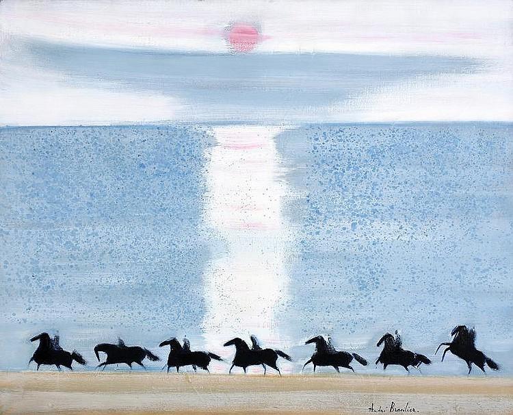 Andre Brasilier Les chevaux du soleil