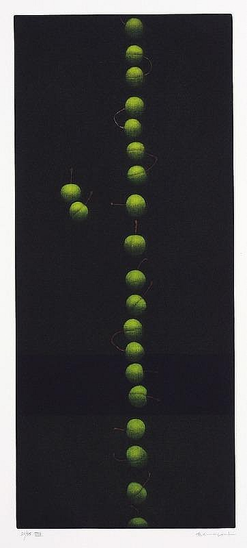 Yozo Hamaguchi Twenty two cherries 'sun moon stars rain', from e.e.cummings suite