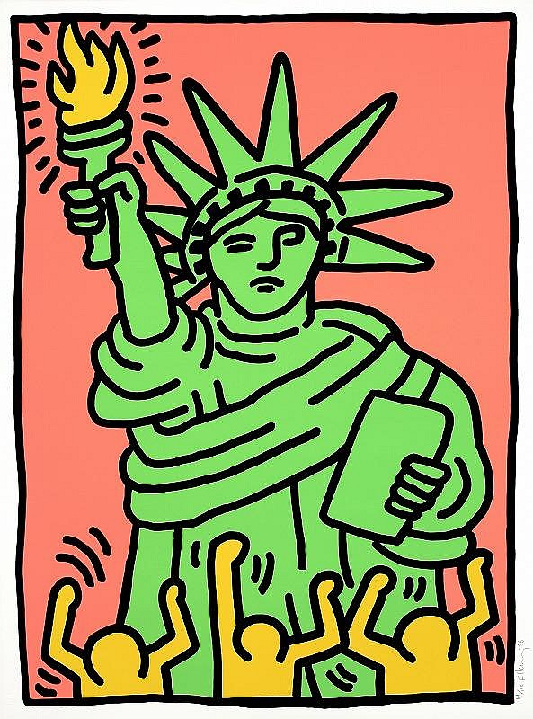 Keith Haring Statue of Liberty (L.P.63)