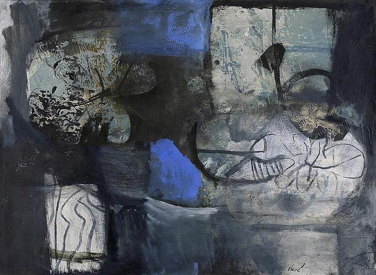 Antoni Clave Peinture aux Feuilles