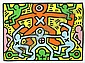 Keith Haring, Untitled (Littmann 50) screenprint, Keith Haring, Click for value
