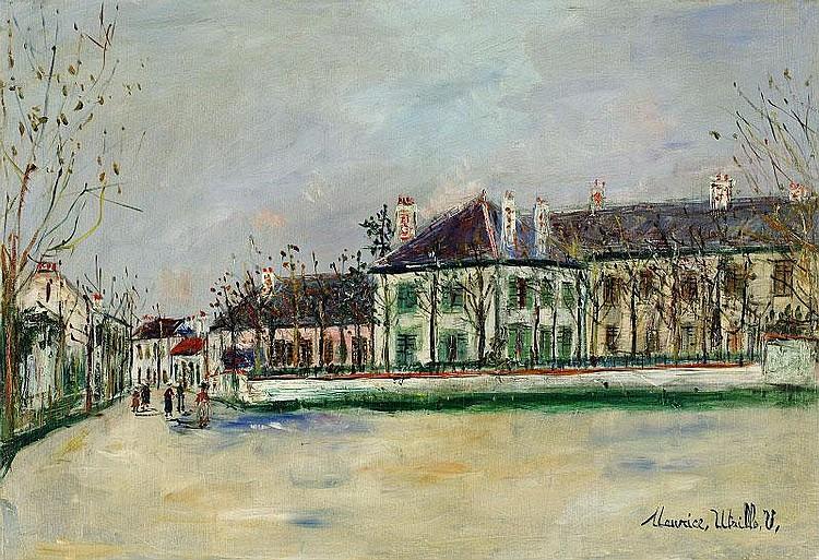 Maurice Utrillo, Rue De Banlieue oil on canvas,