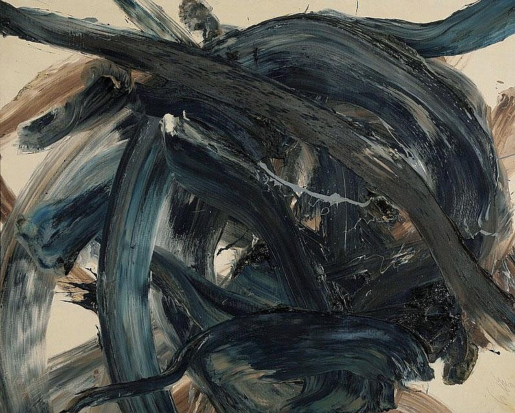 Kazuo Shiraga, Vaisravana oil on canvas, painted