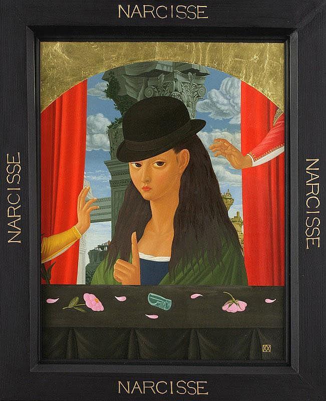 Mitsuru Watanabe, Narcisse oil and gold leaf on