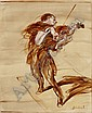 Claude Weisbuch, Violoniste oil on canvas, signed, Claude Weisbuch, Click for value