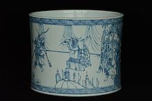$1 Chinese Blue and White Brush Pot Figure 18th C