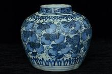 $1 Chinese Ming Blue and White Jar Figure 16th C