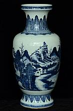 $1 Large Chinese Blue and White Porcelain Vase
