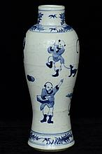 $1 Chinese Blue and White Vase Figure