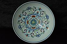 $1 Chinese Doucai Bowl Qianlong Mark and Period