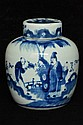 $1 Chinese Blue and White Jar Figure 19th C