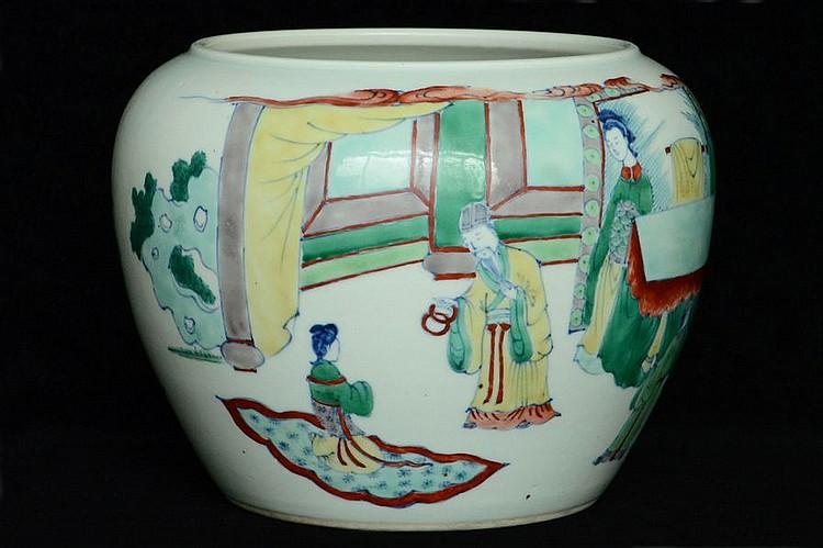 $1 Chinese Porcelain Pot Figure Kangxi Period