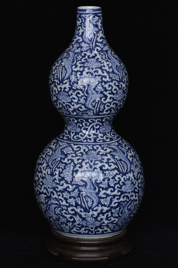 $1 Chinese Vase Jiajing Mark and Period and Stand