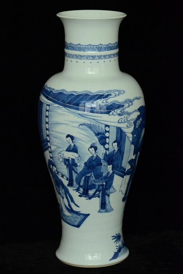 $1 Large Chinese Vase Figure Kangxi Period