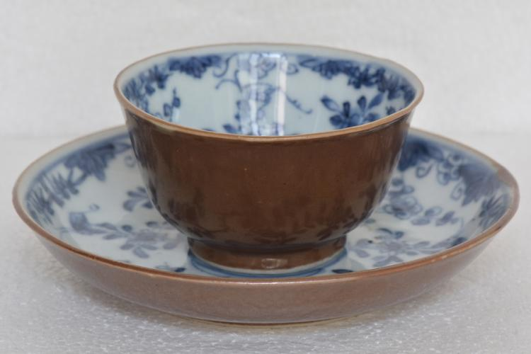 $1 Chinese Porcelain Cup & Saucer Kangxi Period