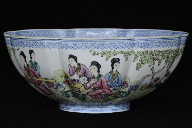 $1 Chinese Thin Walled Bowl Qianlong Mark 20th C